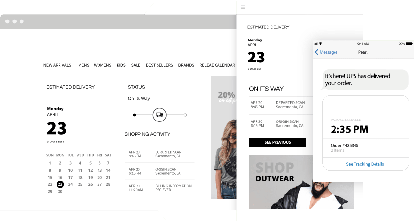 Boost your sales by your branded tracking page.